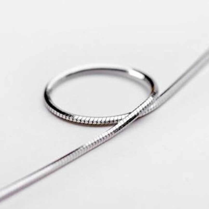 SUSENSTONE Mode Herren Frauen Verkauf Silber Schmuck Schlange Kette Halskette 16-22 zoll