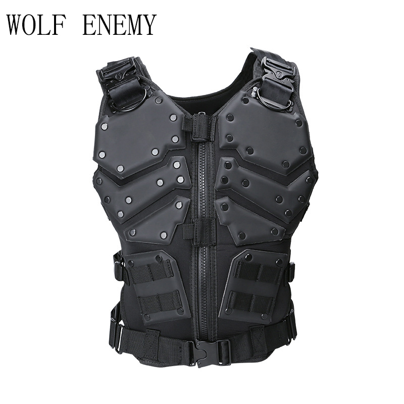 Unloading Airsoft Tactical Military Molle Combat Assault Plate Carrier Tactical Vest Body Molle Armor Cs army Outdoor Hike Vest