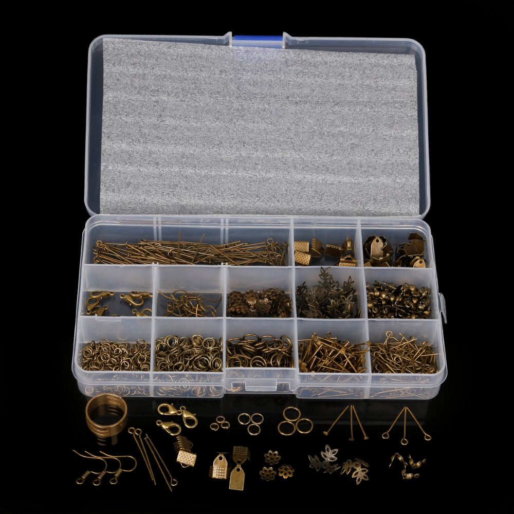 Handmade Diy Jewelry Findings Box Accessories Beads Caps