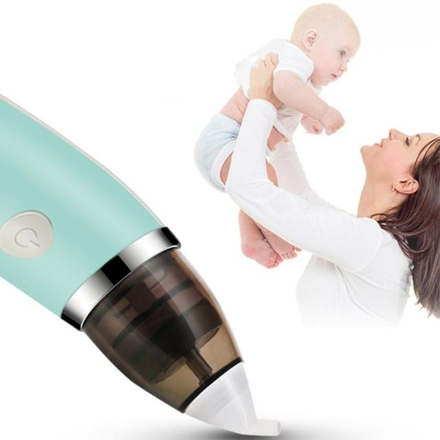 Baby Nasal Aspirator Safe Hygienic Nose Cleaner Nose Tips and Oral Snot Sucker for Newborns and Toddlers USB Charging