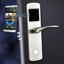 Smart NFC electronic door lock for hote Apartment and condo ,Compatible with iOS and Android Stainless steel