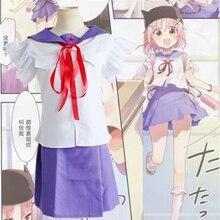 Anime japonés Escuela-Live! Takeya Yuki Cosplay Traje de Marinero Uniforme Escolar Más Reciente (Top + Falda + Sombrero + Cinta)