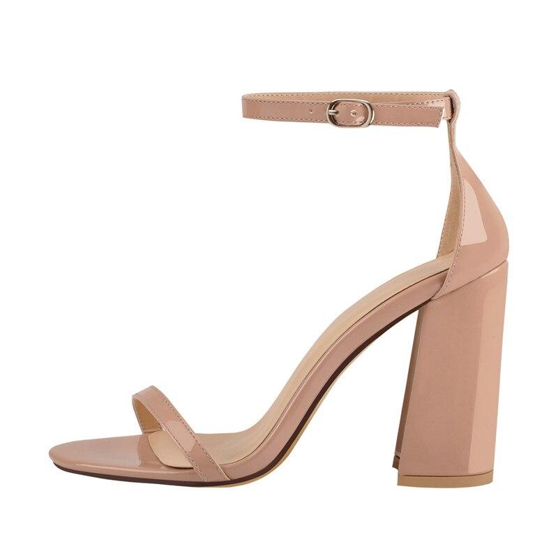 Onlymaker Women's peep Toe สายคล้องข้อเท้าเดียวฤดูร้อนรองเท้าแตะ Chunky Block Heel หัวเข็มขัดอย่างเป็นทางการสำนักงาน Casual Plus siz-ใน รองเท้าส้นสูง จาก รองเท้า บน   2