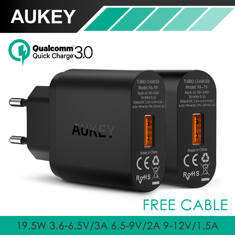 font b Aukey b font Quick Charge 3 0 USB Wall Charger EU US Plug