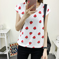 Women Summer Print T Shirt FashionFruit  Print Tee Casual Woman Strawberry Print Tops O-Neck Short Sleeve t-shirt 71574