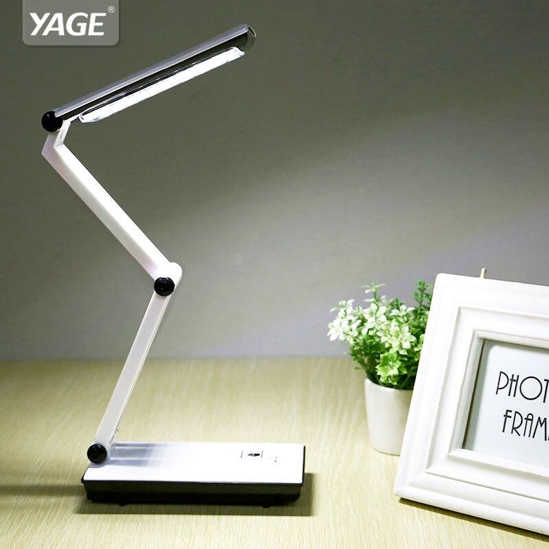 2018 YAGE 3979 Настолна лампа Нощна лампа Led Desk Четене на книги Usb Сгъваем 3-слойно тяло Revolvable Holder 2-mode EU / USA / UK Plug