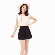 Thin Spring Summer Women Shorts Fashion Casual Slim Wild High Waist 2019 New Large size Beach Wide Leg YH38