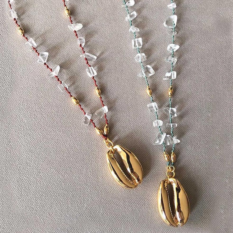 Bolo bohemian ผู้หญิงยาว cowries shell จี้สร้อยคอ Collana di conchiglie Collier de coquillages คอ de concha