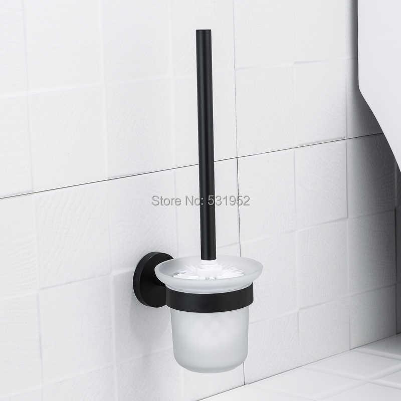 Nero Opaco In Acciaio Inox Attrezzatue E Accessori Per Il Bagno Portasciugamani Cremagliera Rotolo di Carta Holder Toilet Brush Holder Accessori Per il Bagno