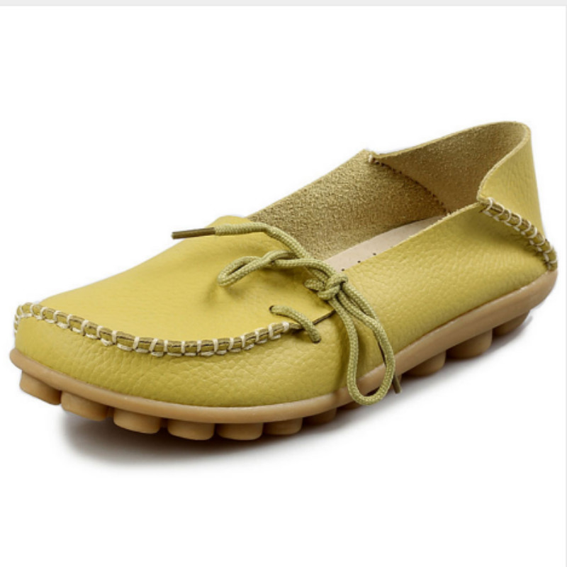 New Women Real Leather Shoes Moccasins Mother Loafers Soft Leisure Flats Female Driving Casual Footwear Size 35-42 7d51 handmade vintage women shoes genuine leather female moccasins loafers soft comfortable casual shoes flats plus size 35 40