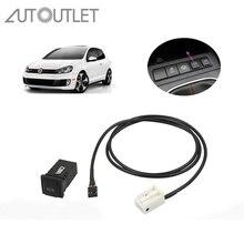 AUTOUTLET AUX в гнездо переключатель кабель для VW Golf Sagitar Jetta MK5 MK6 RCD 510 310 + 300 + AUX разъем кабельный удлинитель AUX