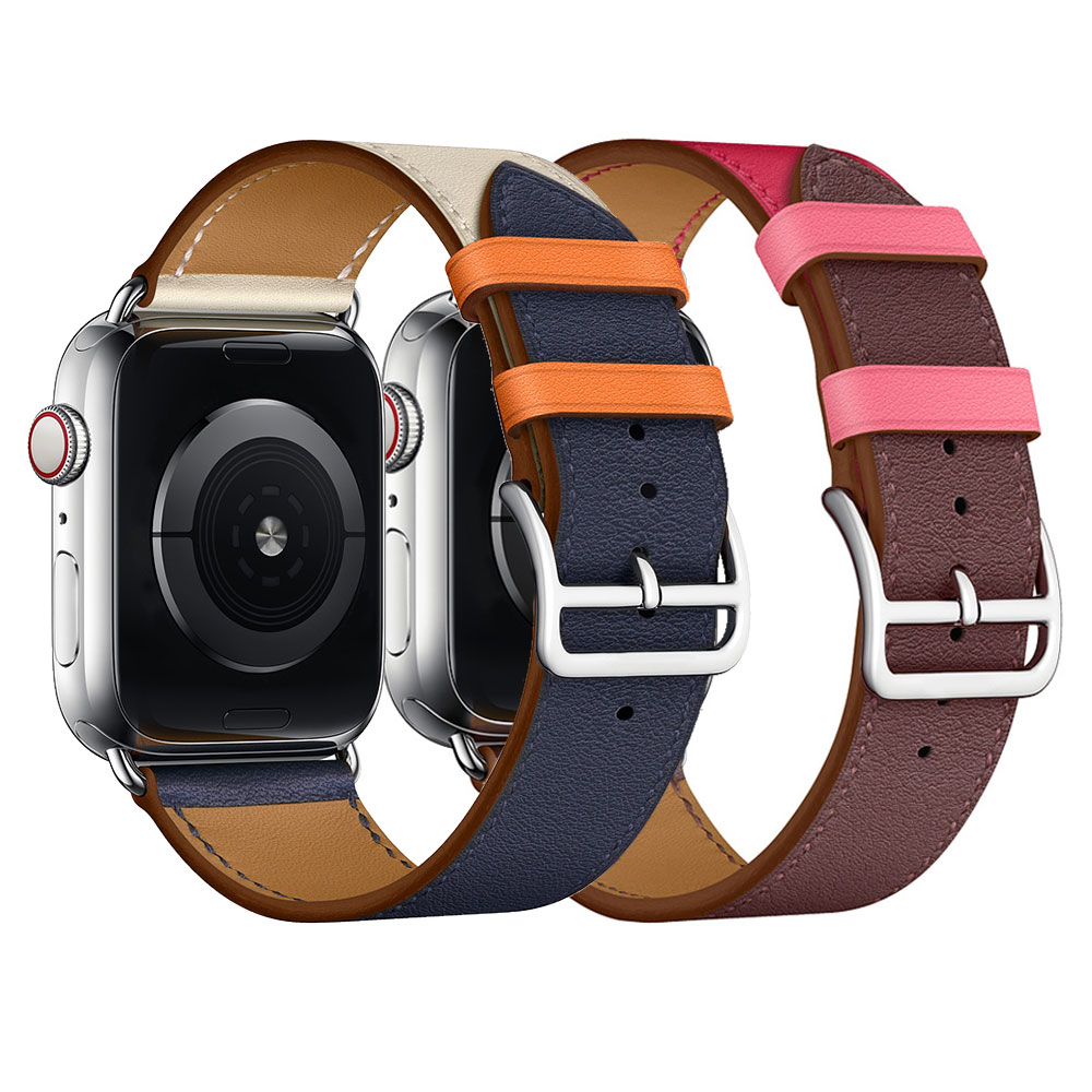 Leather loop for Apple Watch Band 40mm 44mm Sports Strap Single Tour band for Apple watch 42mm 38mm Series 1&2&3&4 42mm 38mm for apple watch s3 series 3