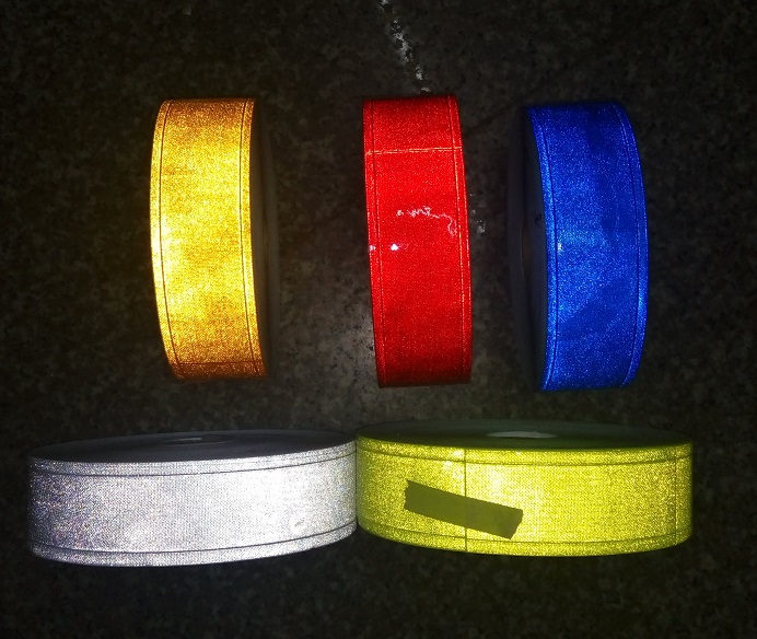 5cm*50m Night Reflective PVC Tape Sewing For Garment Flashing Tiny Star Warning Strip