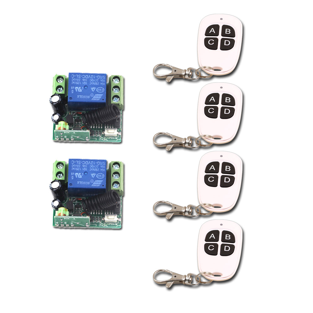 Wireless Remote Control Switch DC 12V 1CH 10A Remote Light Lamp LED Switch Mini Relay Receiver Transmitter 315Mhz/433Mhz ac 220v 1ch rf wireless remote switch wireless light lamp led switch 1 mini receiver 4 transmitters on off 315mhz or 433mhz