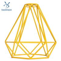 2 Pack Diamond Pendant Ceiling Top Light Cage Dining Living Lamp Shade Yellow
