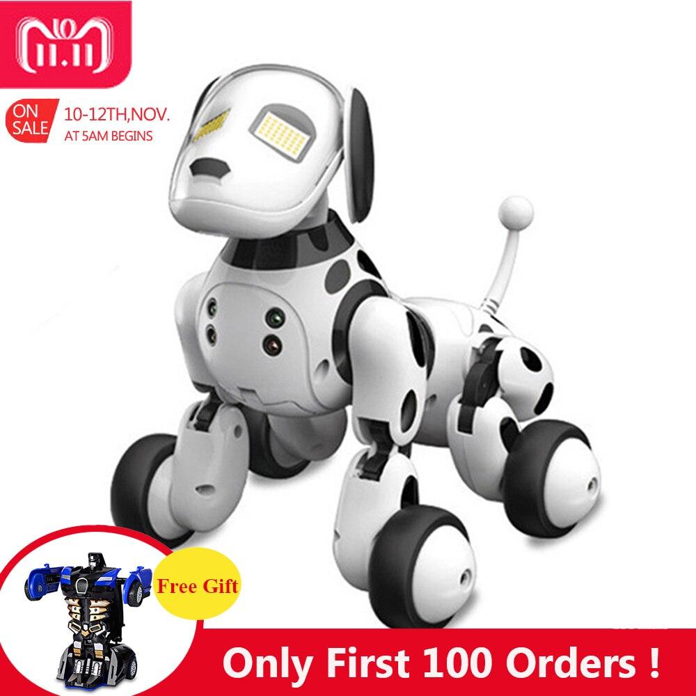 DIMEI 9007A 2,4g Control remoto inalámbrico inteligente Robot perro niños juguete inteligente parlante Robot perro juguete electrónico mascota cumpleaños regalo