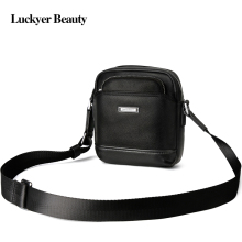 LUCKYER BEAUTY Genuine Leather Men Bag Mini Shoulder Messenger Bag Famous Brand Crossbody for Male Casual Men's Travel Bags