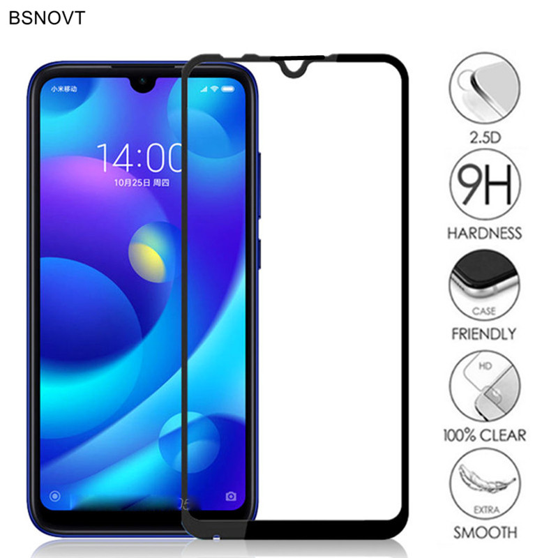 2PCS Glass For Xiaomi Mi Play Phone Screen Protector Full Glue Cover Tempered Glass For Xiaomi Mi Play Glass For Xiaomi Mi Play