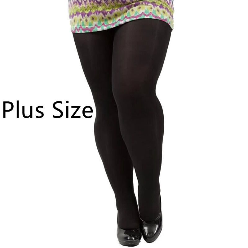Plus velikosti Hlače Jesenske Pomlad Zimske Ženske Hlače Plus Velikost 120D Hlačne nogavice primerne za 100 kg Ženske 7 barv Debele nogavice