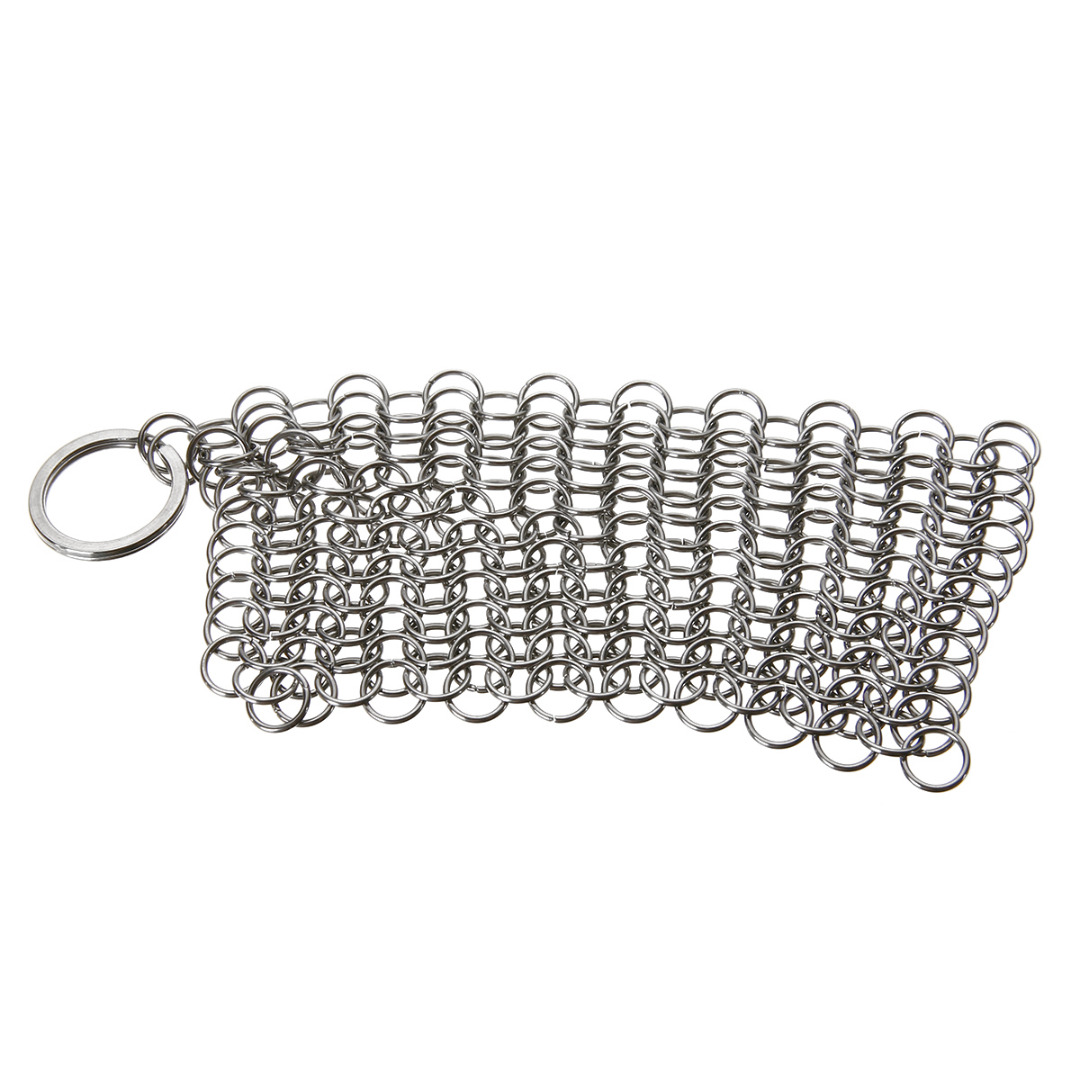 Mayitr Stainless Steel Chainmail Brush Skillet Cast Iron Cleaning Chainmail Ringer Scrubber 10x10CM For Kitchen Cookware Clean