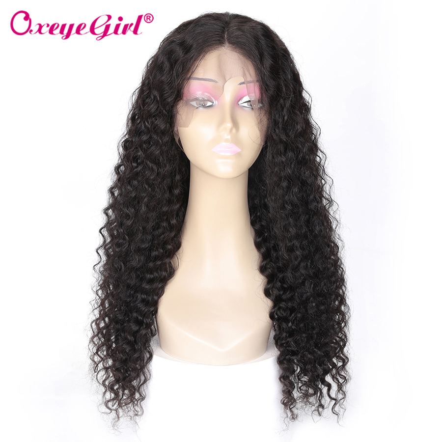 Oxeye girl 13x6 Lace Front Wig Pre Plucked Malaysian Curly Human Hair Wig Remy 13x4 250