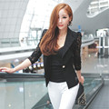 Spring women jacket brand Sexy style Lace long sleeve One Button blouse Jacket Suit Tops CD135