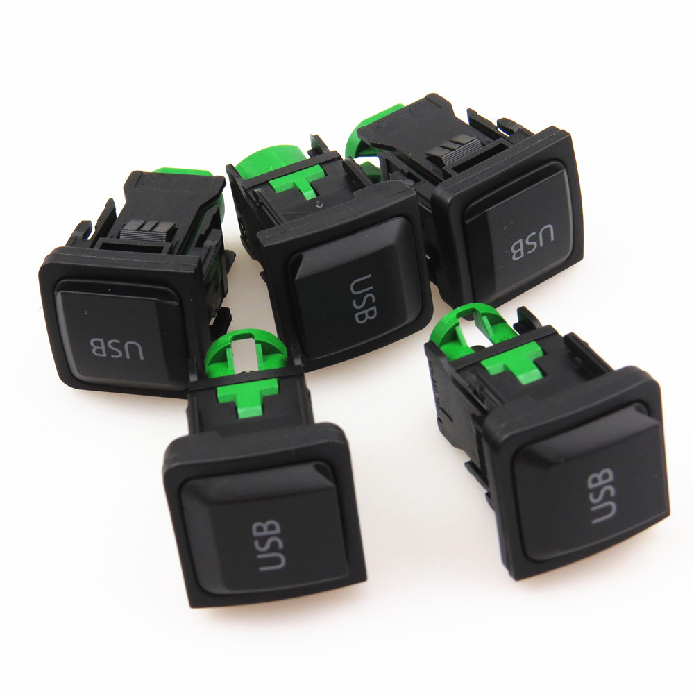 FHAWKEYEQ <font><b>5</b></font> x RCD510 RCD310 RCD300 Car <font><b>USB</b></font> Interface <font><b>Adapter</b></font> Switch For <font><b>VW</b></font> Scirocco Jetta MK5 <font><b>Golf</b></font> MK6 5KD 035 726A 5KD035726A image