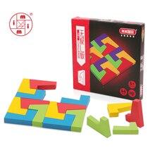 MITOYS красочная деревянная головоломка Танграм головоломка игрушки тетрис игра Дошкольное волшебство интеллектуальная развивающая игрушка подарок