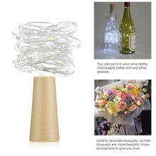led string lights Outdoor 1m 20m Wine Bottle Stopper Light For Indoor Party Wedding Decoration Christmas Included Batteries(China)