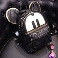 Черный backcpack 2016 Симпатичные рюкзак Искусственная кожа рюкзаки Школьные Сумки для Девочек-Подростков Модные рюкзаки Женщины сумка