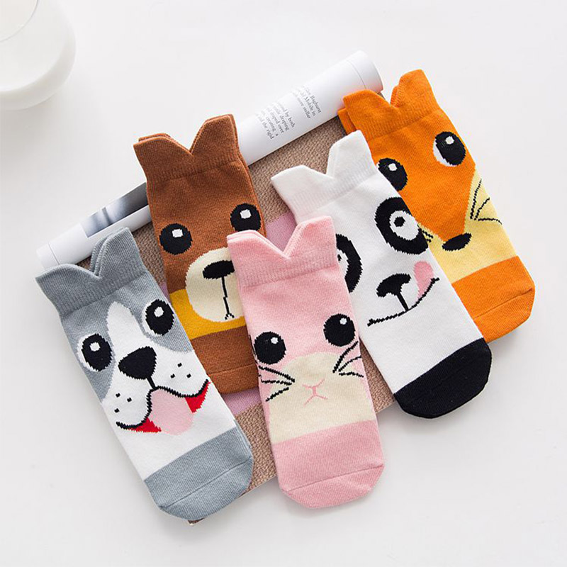 5Pair/lot IMMDOS Children Winter Cotton Socks Cartoon Pattern Cute Sock Kids 2018 Spring Fashion Girls Sock Suitable For 6-8 ...