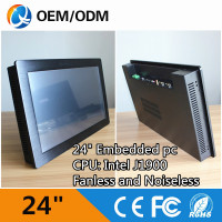 Capacitive Touch 24 Industrial Pc Touch Screen Panel Pc With Inter J1900 WIFI 2 COM RJ