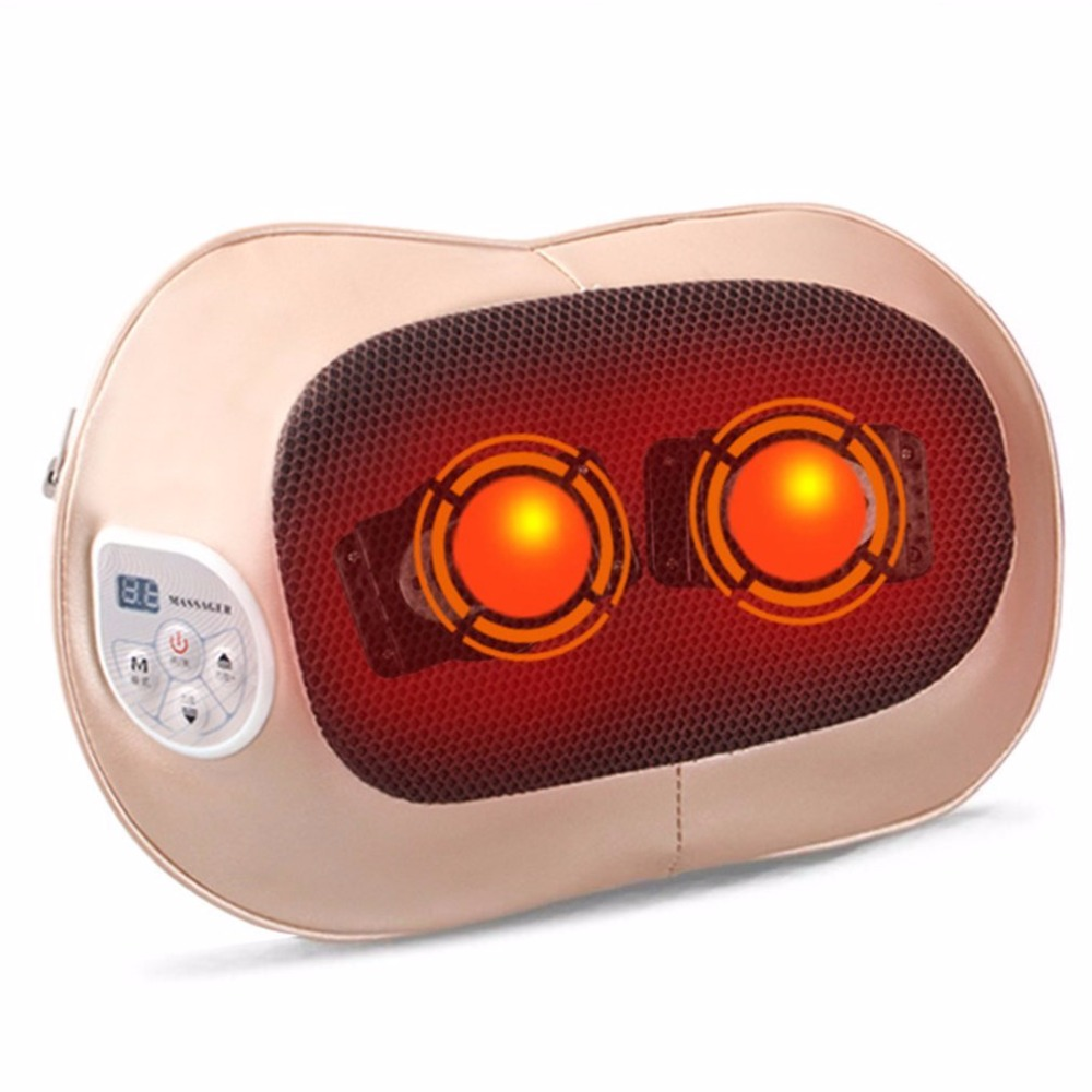 New Arrival Electric Massage Pillow Neck Shoulder Back Body Spa Massage Comfortable Massage Pillow For Home Office Car набор масло levissime home spa body pack