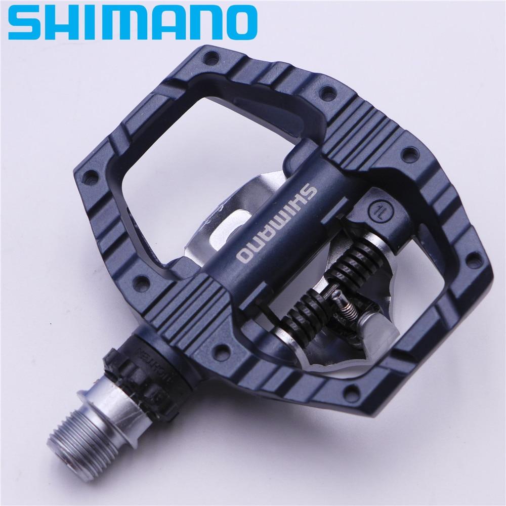 SHIMANO PD EH500 plate-forme double face/pédales SPD Clipless avec taquet SM-SH56 PD-EH500 d'origine - 5