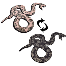 snake Reversible Change color Sequins Sew On Patches for clothes DIY Patch Applique Bag
