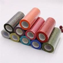 Gold Silver Tulle Roll 15cm*10Yards Wedding Decoration Fabric Spool Craft Tutu Dress DIY Organza Party Supplies