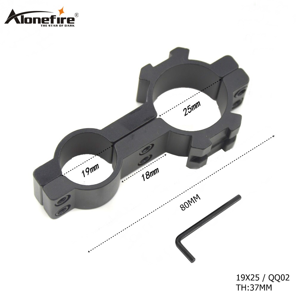 AloneFire 19X25 19mm Ring 25mm Ring Weaver Scope Mount Adapter Aluminum Hunting Accessories Weaver Picatinny Rail Mount