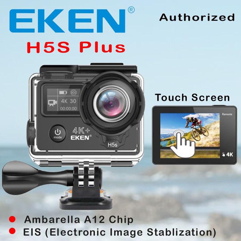EKEN H5S Plus Ultra HD Action Kamera Touchscreen Ambarella A12 EIS 4 karat/30fps 720 p/200fps 30 Mt wasserdicht go Helm pro sport cam
