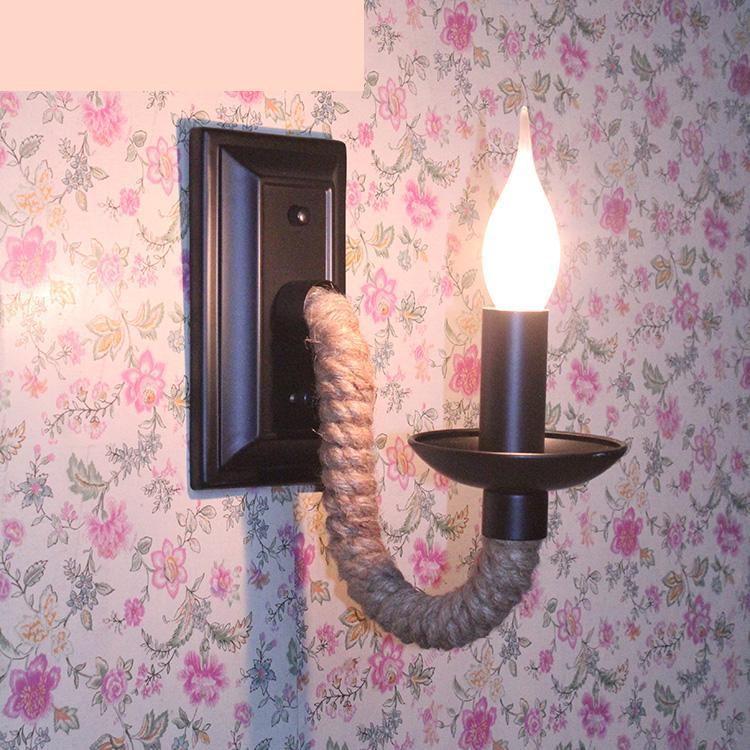 Modern Vintage Sconce Wall Lights Bedroom Bedside Lamp Corridor Single Double Head Iron Art Candle Wall Lamps Lighting
