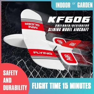Image 3 - 2019 KFPLAN KF606 2.4Ghz 2CH EPP Mini kryty RC szybowiec samolot wbudowany Gyro RTF dobra elastyczność, silna odporność na upadek