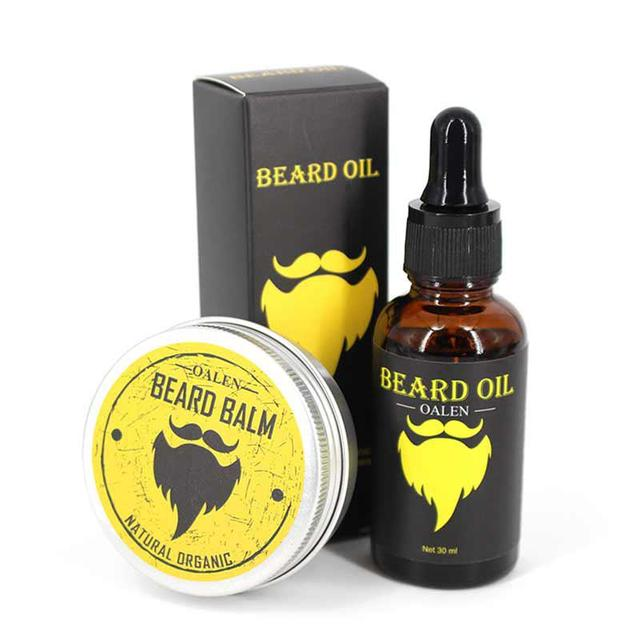 BellyLady Natural Organic Beard Oil Balm Moisturizing Smoothing Moustache Cream + Oil for Dashing Gentlemen