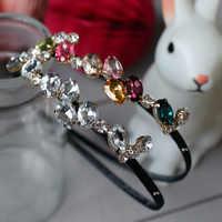 Korea Diamant Haar Zubehör schöne Kristall Blume Krone Stirnband Haar Band Haar Bogen Prinzessin 3