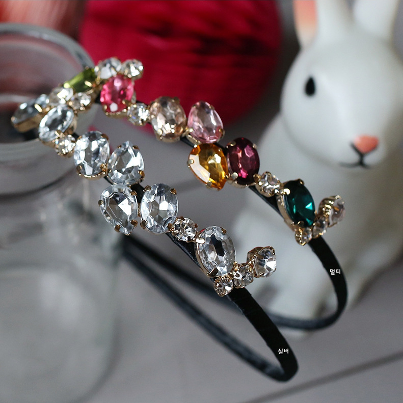 Korea Diamond Hair Accessories lovely Crystal Flower Crown Headband Hair Band Hair Bow Princess 3