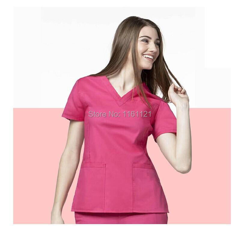 690ae51dfa2 2014 women's hospital medical scrub clothes uniform set doctor 's surgical  clothing for female short sleeve free shipping-in Scrub Sets from Novelty  ...
