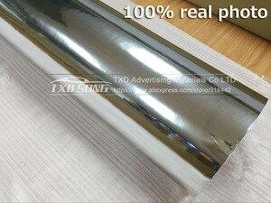 Image 3 - Premium High stretchable mirror silver Chrome Mirror flexible Vinyl Wrap Sheet Roll Film chrome mirror vinyl sticker