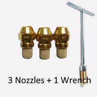 3pcs 80 Degrees 1 75 GPH Solid Type S DANFOSS Oil Burner Nozzle With Free Wrench