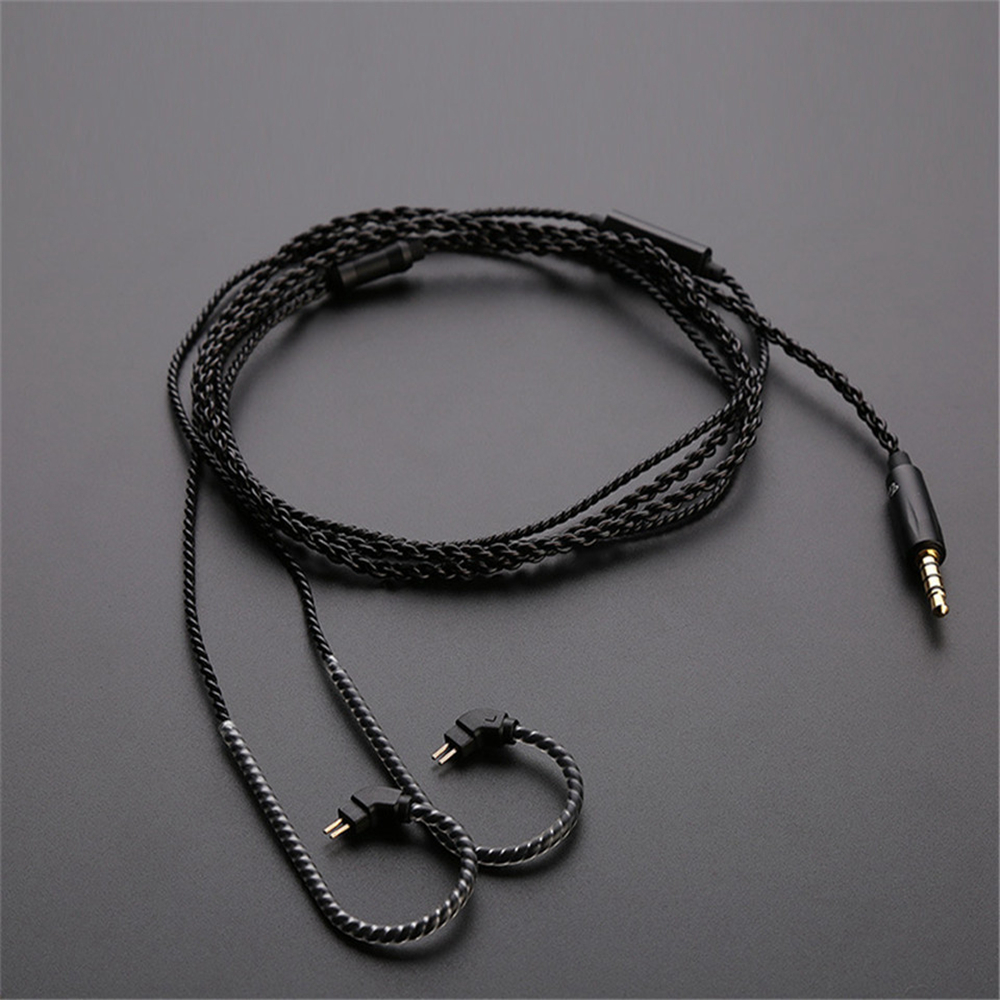 Original Black Replacement Cable 0.75/0.78 mm 2Pin Headphone MMCX Upgraded Cable 3.5mm Earphone Wire For TRN V10/V20/V60/V80