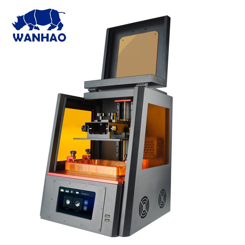 2019 más nuevo WANHAO D8 resina joyería Dental 3D impresora WANHAO duplicador 8 dlp sla LCD 3d impresora máquina envío gratis con wifi