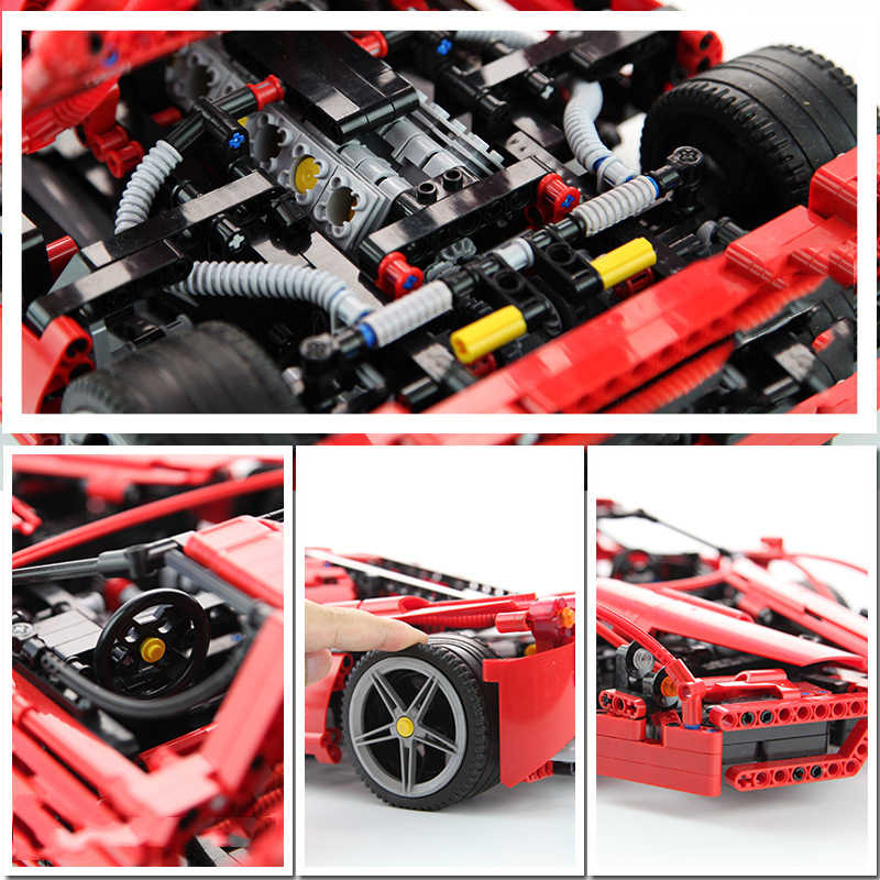 Detail Feedback Questions About Red Supercar Bela 9186 Enzo 110