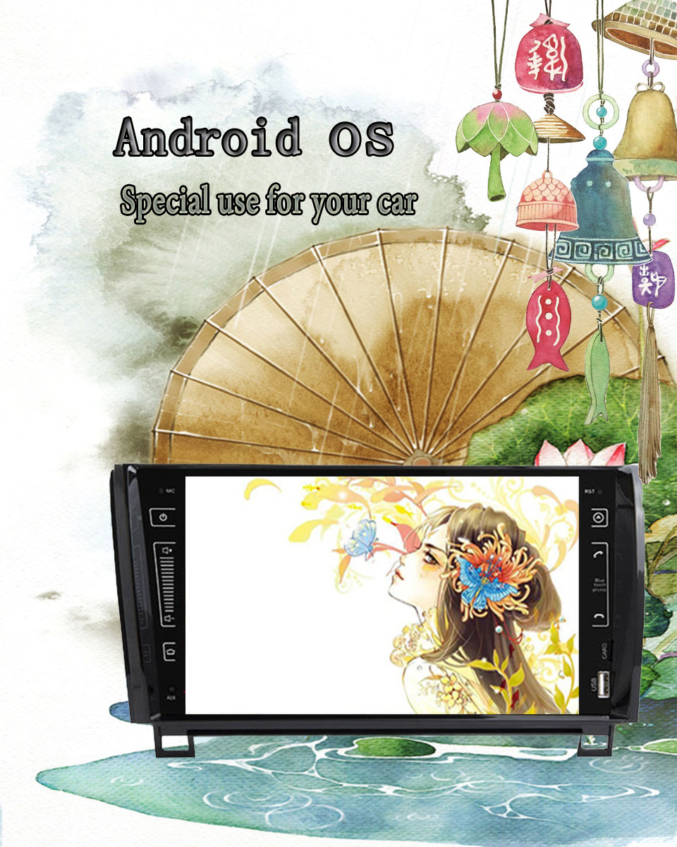 "Excellent 9"" IPS 3/4G Android 9.0 4+64G 2 DIN CAR multimedia player for Toyota Sequoia Tundra 2007-2013 RADIO stereo auto audio navigation 3"